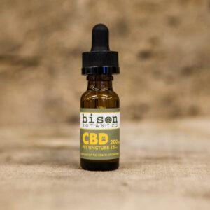 Bison Botanics' 200 milligram CBD oil pet tincture.