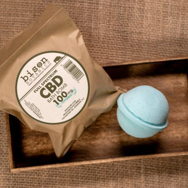 100mg CBD bath bomb peppermint scented