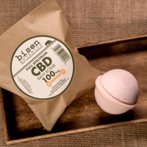 100mg CBD bath bomb grapefruit scented